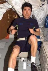 31-169x249 Японский астронавт на МКС сыграл в футбол и поплавал в ластах