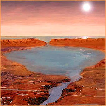 112 Когда-то вода на Марсе не замерзала