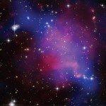 Темная материя на комбинированном изображении скопления галактик Абель