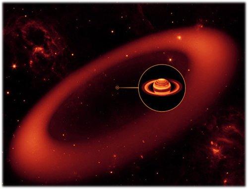 61 Астрономы обнаружили самое большое кольцо Сатурна