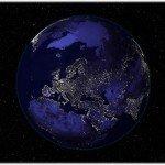 Вот так выглядит световое загрязнение на примере Земли