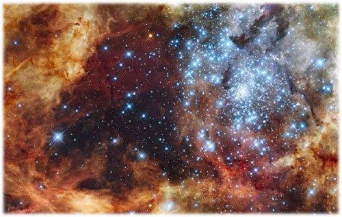 63 Хаббл сфотографировал туманность Тарантула