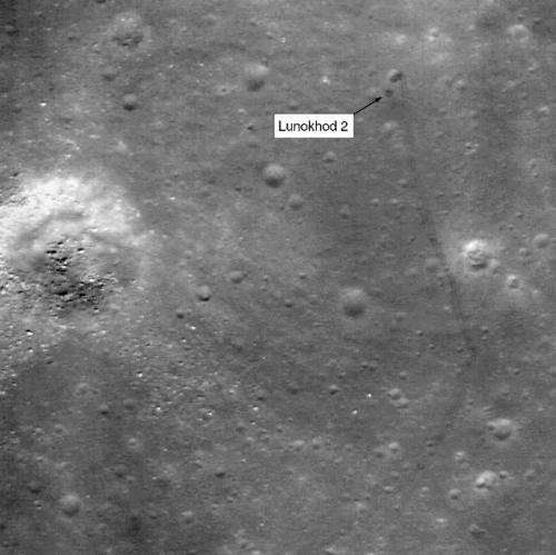 Луноход-2 «Луноход-2» увидели на новых снимках Луны