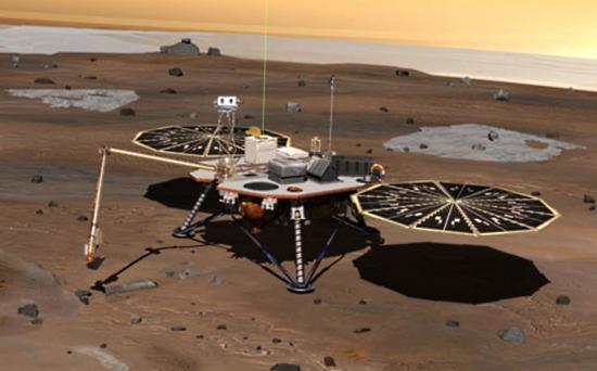 марсианский-зонд-Феникс NASA вновь ищет «Феникс»