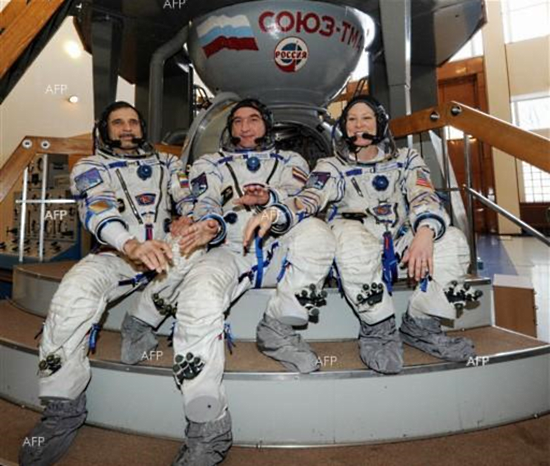 новый-экипаж На МКС отправилась новая команда космонавтов