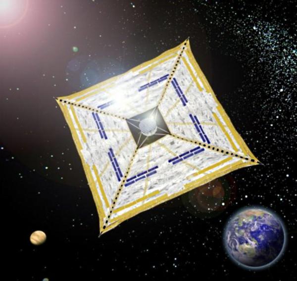 Ikaros Японский спутник будет передвигаться с помощью солнечного паруса