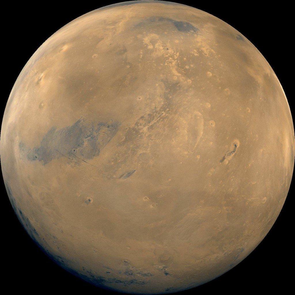 marsglobe2-1024x1024 В глубокой древности и в северном, и в южном полушариях Марса была вода