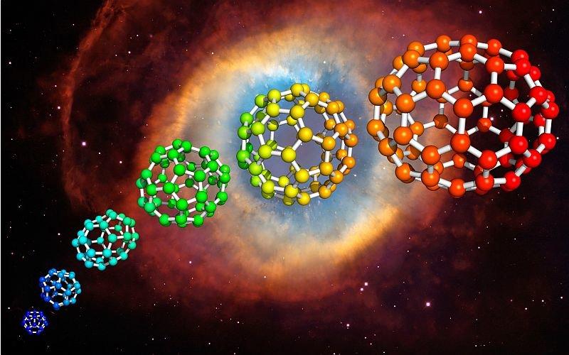 5.fullerenes Обнаружены крупные углеродные молекулы общей массой 10 ̂̂̂23 кг