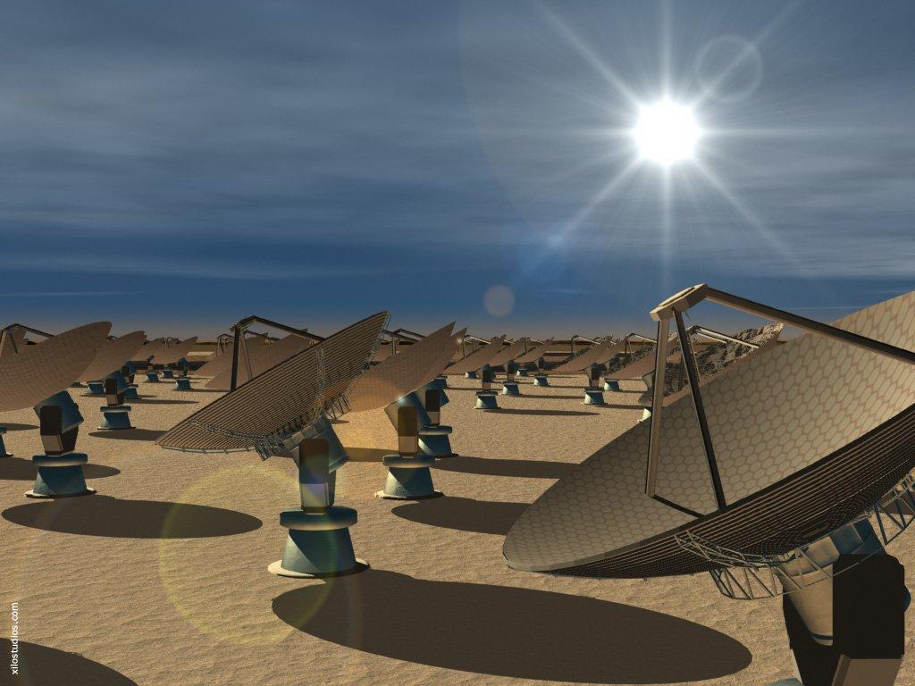 visualisation-of-ska-dishes Радиотелескоп неэффективен в обнаружении братьев по разуму