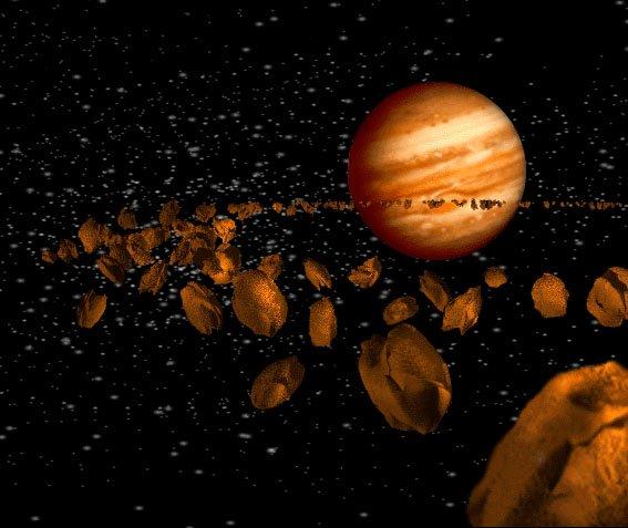 asteroid Загадка происхождения Троянских астероидов лишила учёных покоя