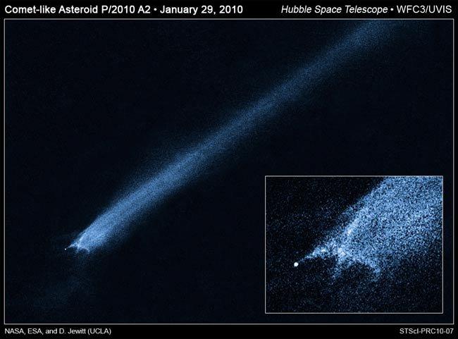 asteroid-collide-100202-02 Найден длиннохвостый астероид