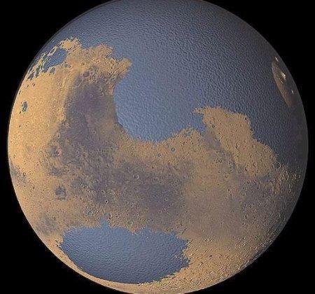 water_mars Гидросфера Марса была сформирована подземными водами