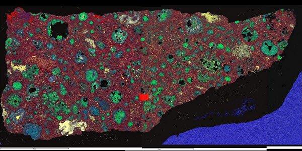метеорит-Альенде Первые твёрдые тела Солнечной системы были пористыми