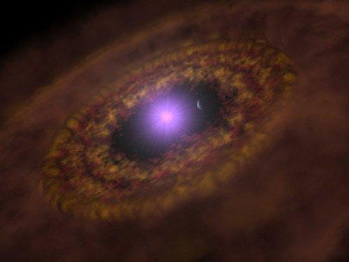 22 Обнаружена планета-младенец