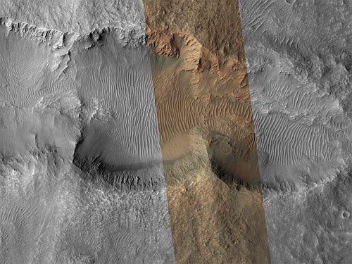 23 На Марсе существуют двойные и тройные кратеры