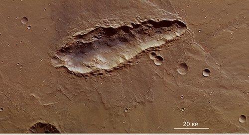 Coloured Опубликованы снимки необычного марсианского кратера