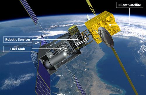 satellite-refueling С 2015 года на орбите будет работать первый спутник-заправщик