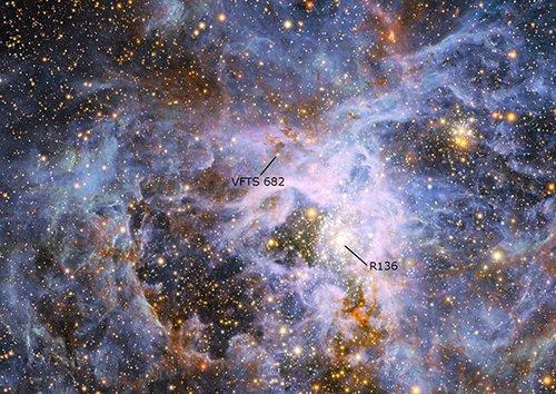 mosaich В нашей галактике обнаружена «одинокая» и чрезвычайно массивная звезда