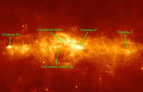 70mm Астрономы обнаружили в нашей галактике изогнутое кольцо газа