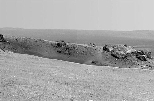Rim Марсоход «Оппортьюнити» добрался до кратера Индевор