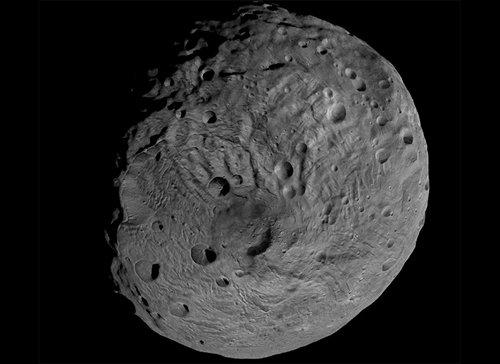 South Зонд Dawn передал фотографии поверхности Весты, сделанные с близкого расстояния