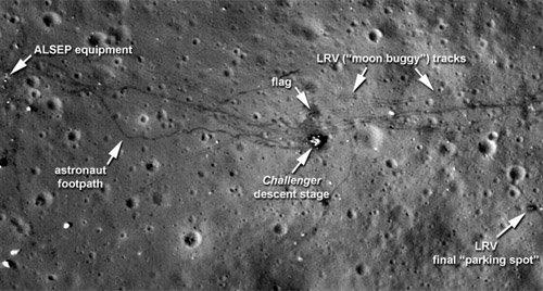 moon_1 Lunar Reconnaissance Orbiter передал качественные снимки районов посадки лунных экспедиций