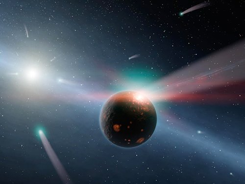 LHB В близлежащей звездной системе обнаружены следы тяжелой бомбардировки