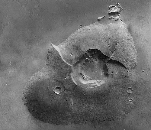 28305453 Обнародованы снимки марсианского вулкана Тарсис Толус