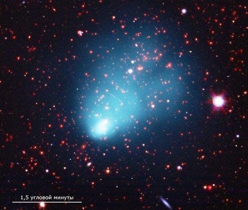 Cluster Астрономы обнаружили необычайно массивное скопление галактик