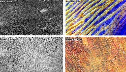 PIA15225 Дюны на Титане очень разнообразны