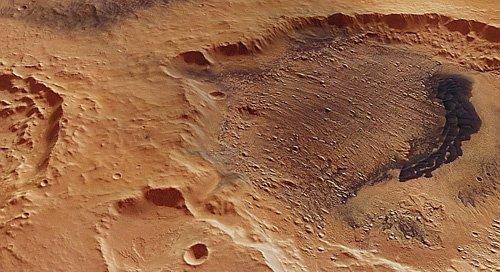 556-20120514-10468-3D-DanielsonCrater_H11 Дно марсианского кратера рассказало об изменении климата на планете