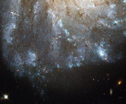 658079main1_m99-6701 «Хаббл» разглядел в соседней галактике необычную звезду