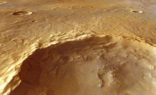 crater-Tyrrhena_H Получены новые доказательства существования воды в древних марсианских глубинах