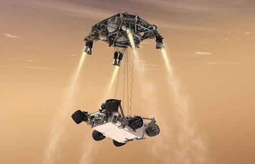 1-1 Curiosity совершил посадку на Марс