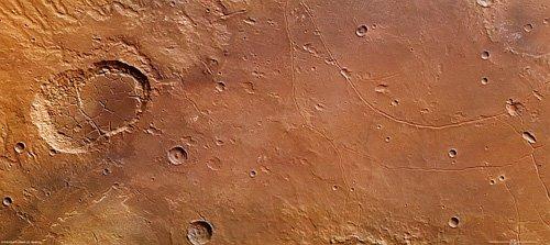 563-20120717-10602-co-LadonValles_H1 Mars Express передал на Землю фотографии трещин гигантского кратера