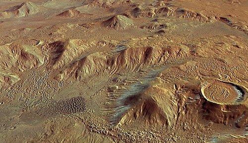 345b Extyst получили новые доказательства существования древних ледников на Марсе