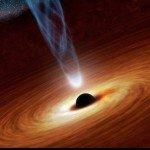 впервые измеряна скорость вращения чёрной дыры