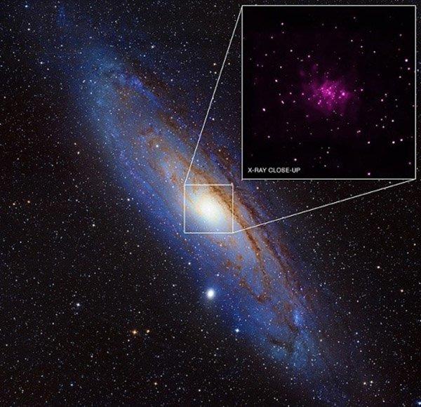 В галактике Андромеды обнаружено много чёрных дыр
