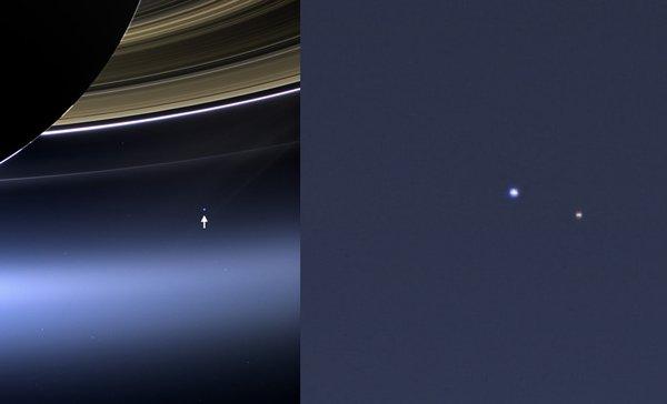 «Кассини» снял Землю через кольца Сатурна