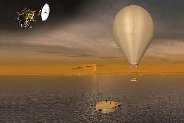 В море на Титане обнаружен необычный остров