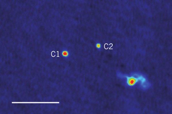 Найдена система, состоящая из трех сверхмассивных черных дыр