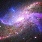 Астрономы изучили распыляющуюся галактику